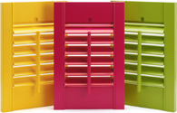 Whatever the colour of your design theme we can produce the shutters to match